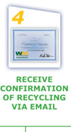 Receive Confirmation of Recycling via Email